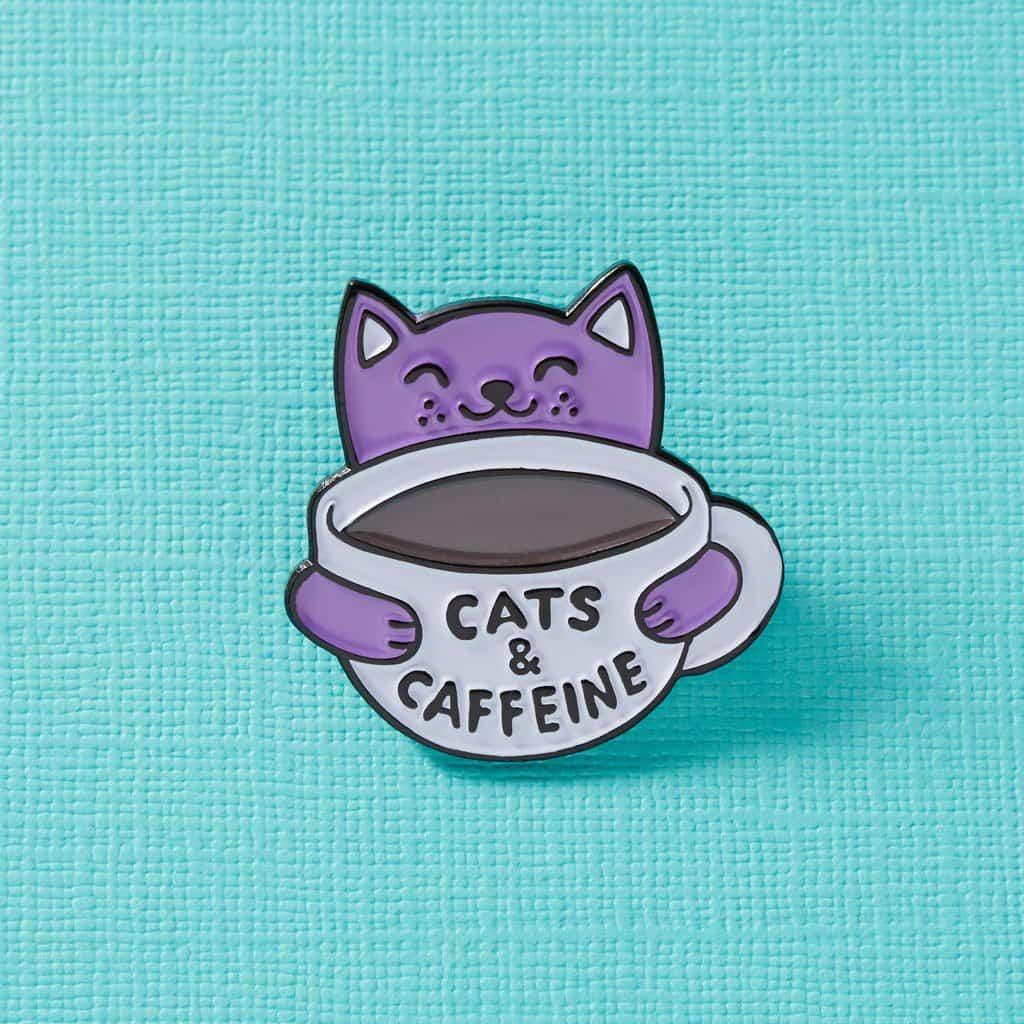 Punky Pins Cats & Caffeine Pin