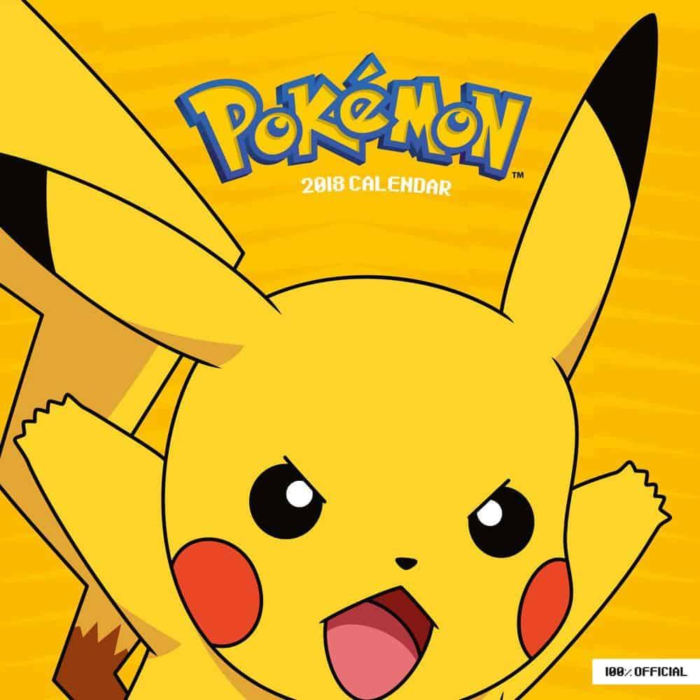 Pokemon Calendar 2018 English Version