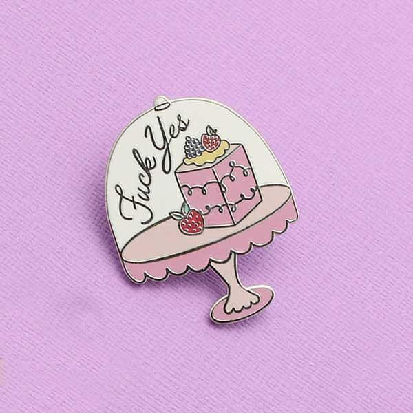 Punky Pins Fuck Yes Cake Pin