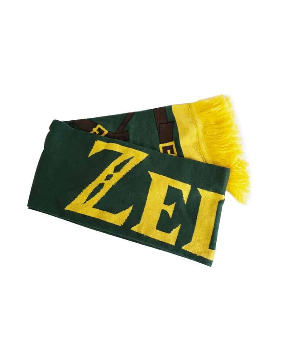 Link Green and Gold Knitted Scarf