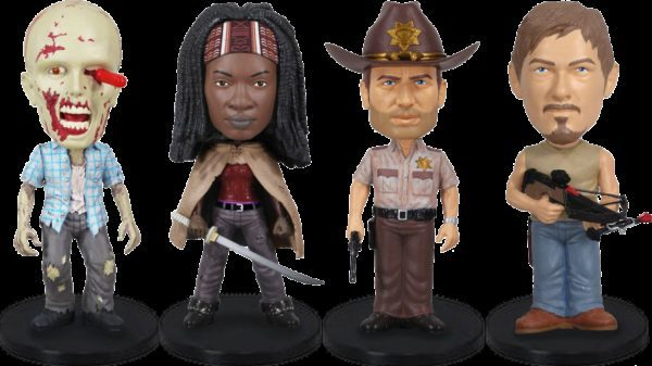 The Walking Dead Wacky Wobbler Mini Bobble-Head 4-Pack 8 cm