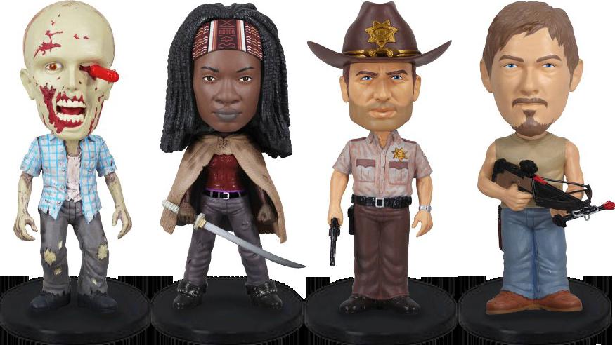 The Walking Dead Wacky Wobbler Mini Bobble-Head 4-Pack 8 cm