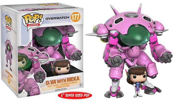 Funko POP! Overwatch Super Sized Games Vinyl Figure D.VA & Meka 15 cm