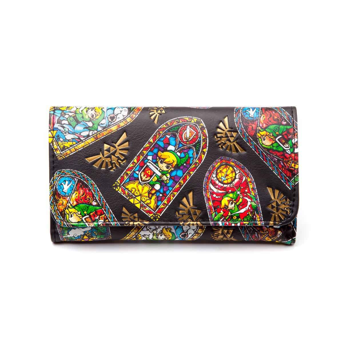 Zelda - Windwaker - Folded Wallet, Stained Glass
