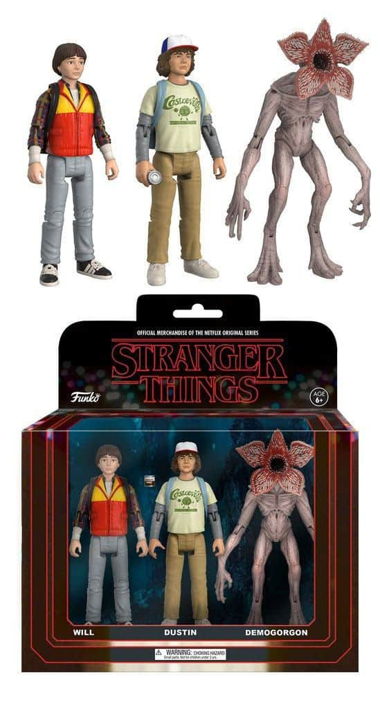Stranger Things ReAction Action Figures 3-Pack Dustin, Will & Demogorgon 14 cm