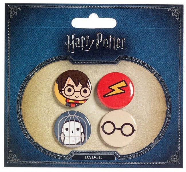Harry Potter Cutie Button Badge 4-Pack Harry Potter & Hedwig