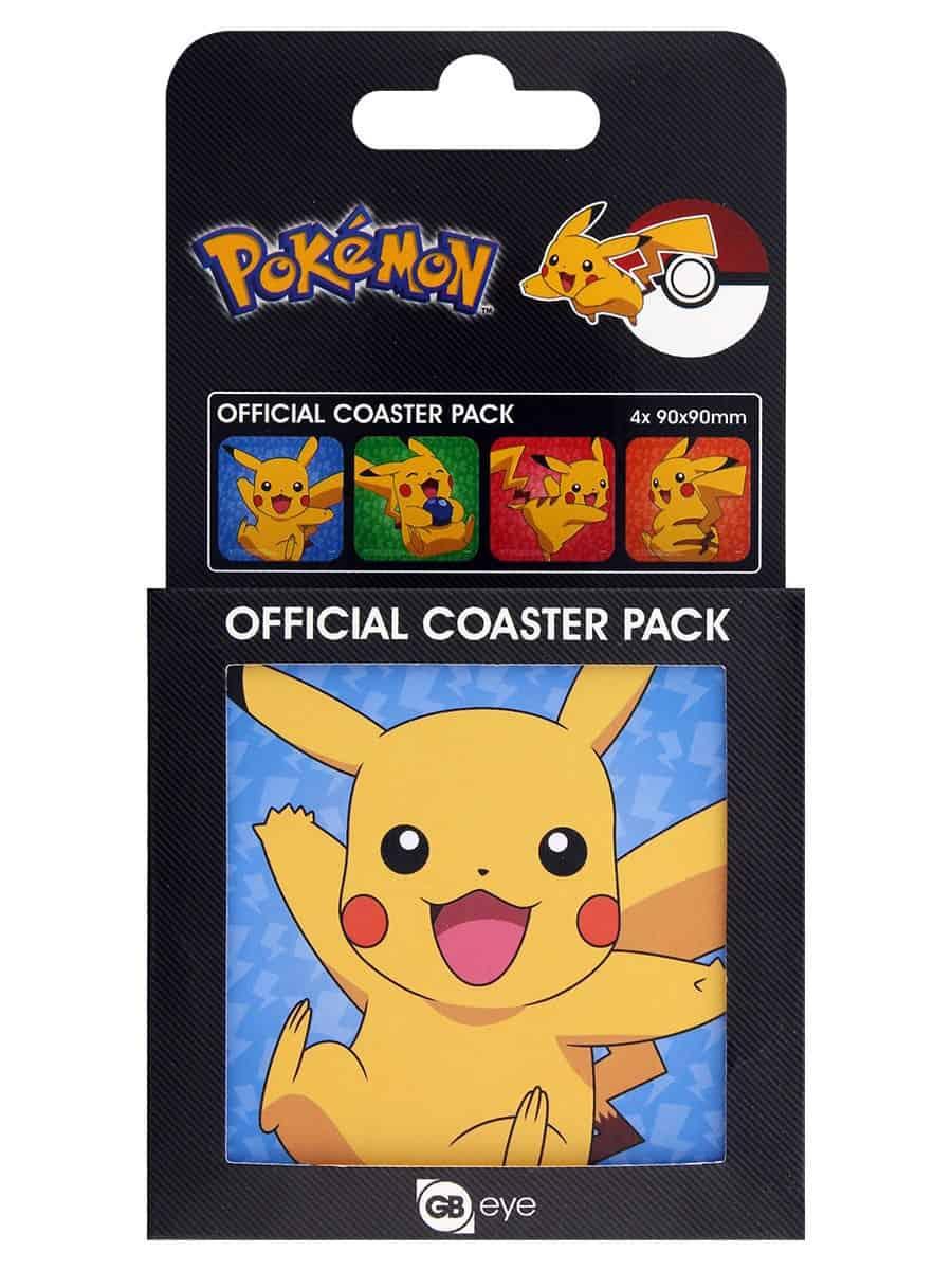 Pokémon Coaster 4-pack Pikachu