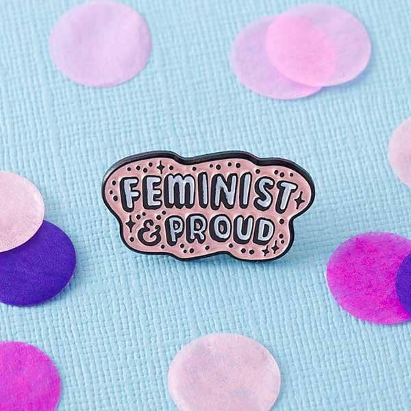 Punky Pins Feminist & Proud Pin