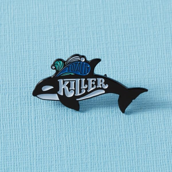 Punky Pins Totally Killer Orca Whale Pin