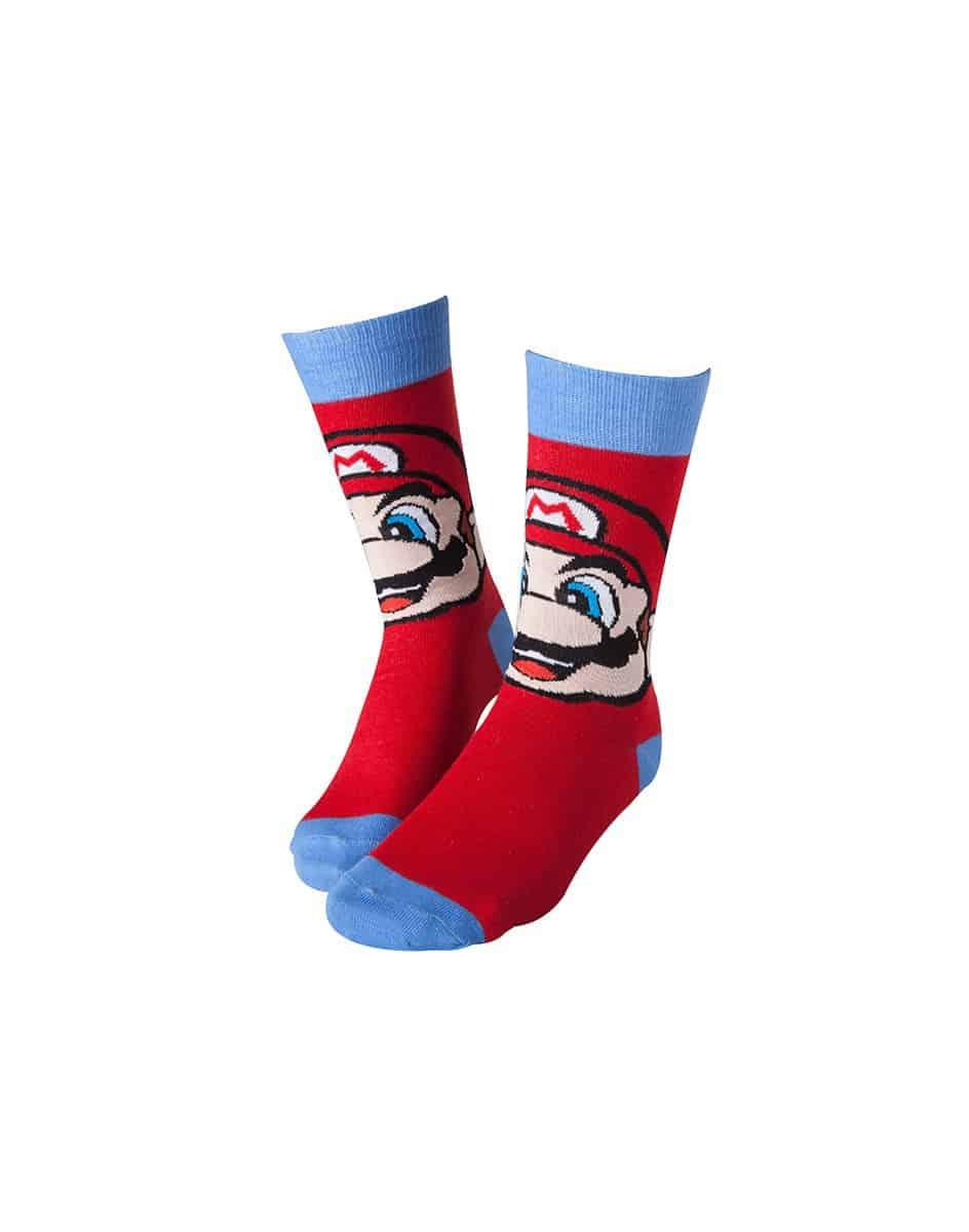 Nintendo - Mario Socks Red With Blue
