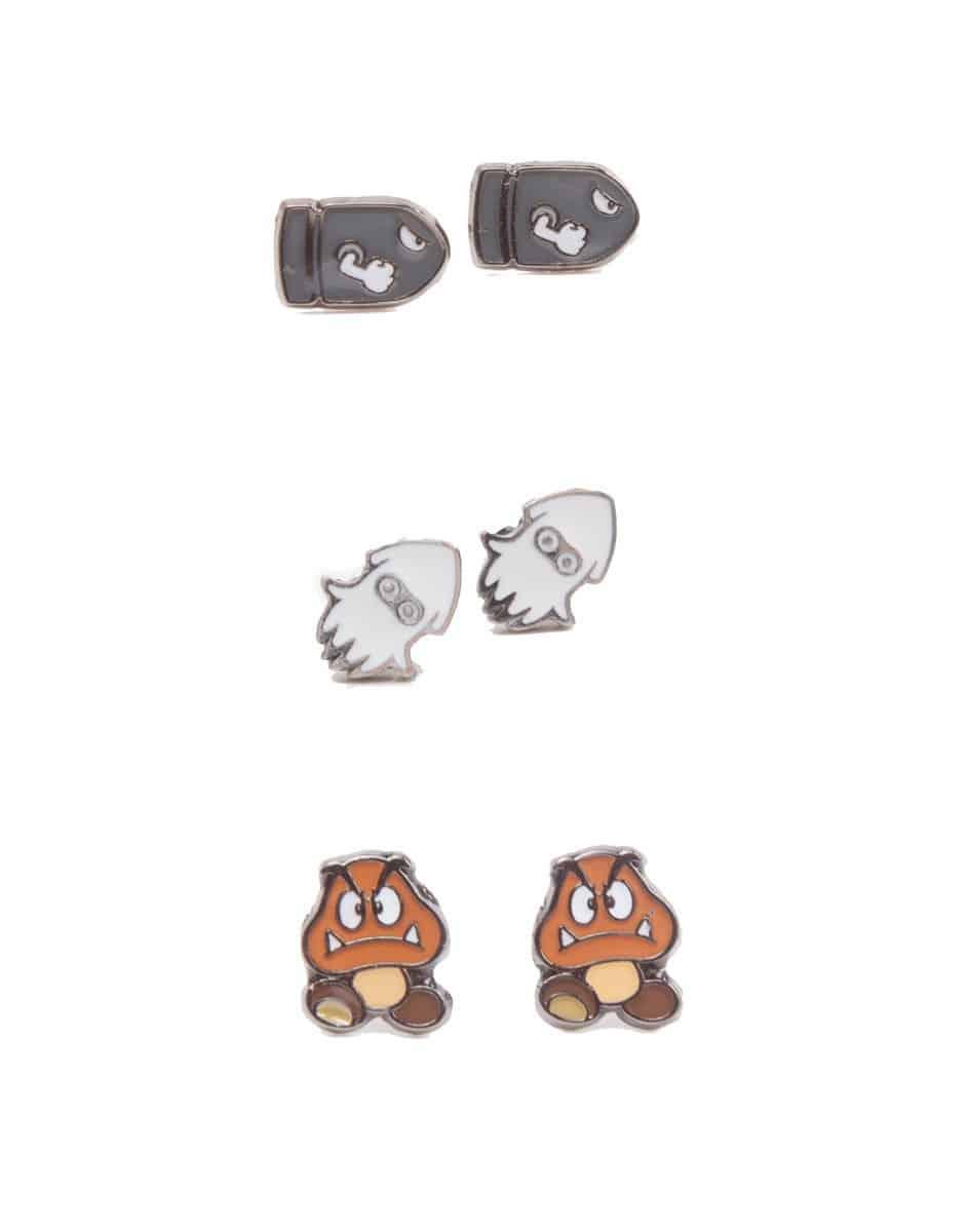 Nintendo - 3 Pair Set of Studd Earrings Enemies