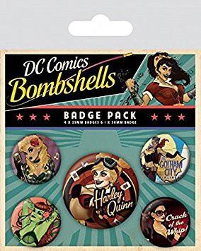 DC Comics Pin Badges 5-Pack Bombshells