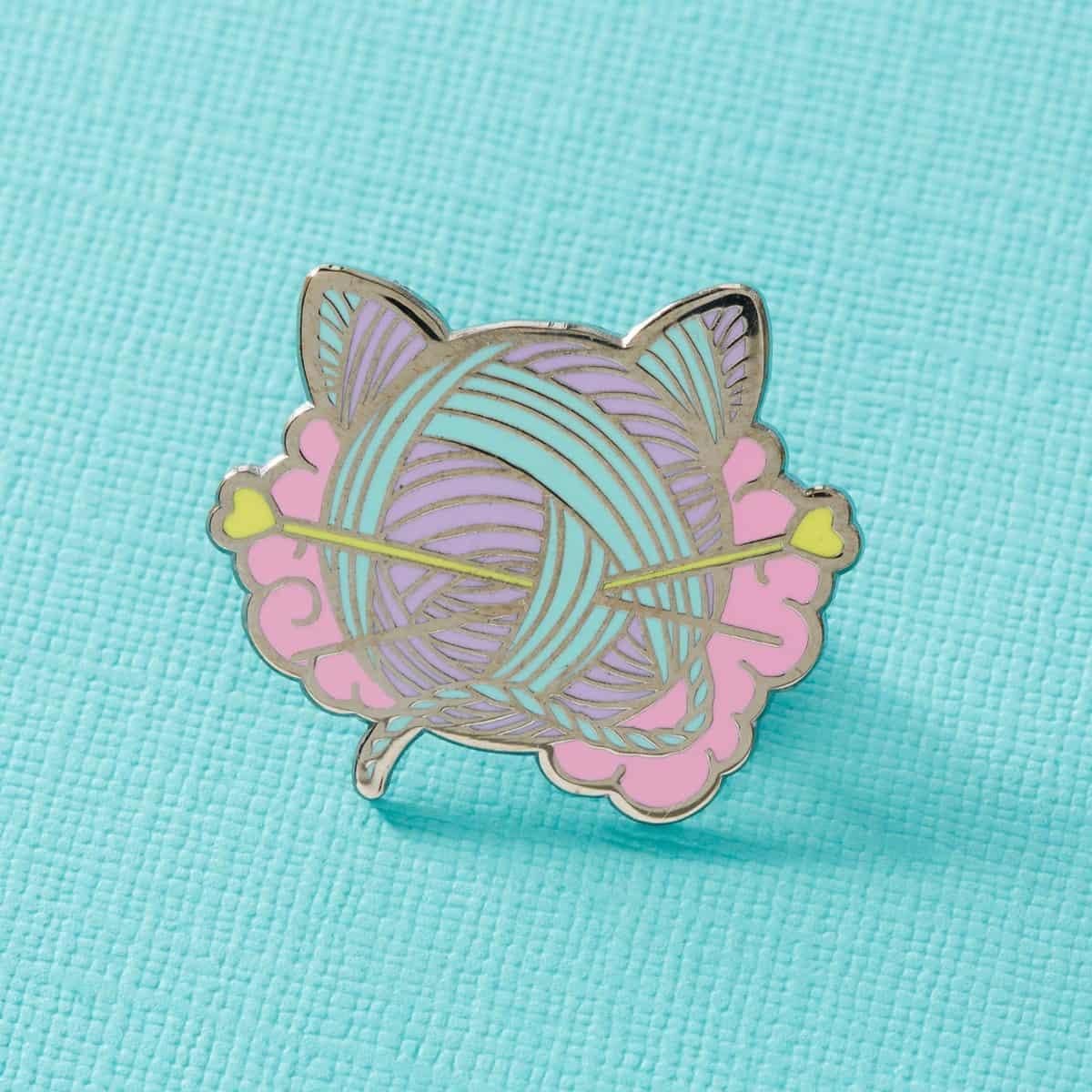 Punky Pins Kitten Wool Ball Pin