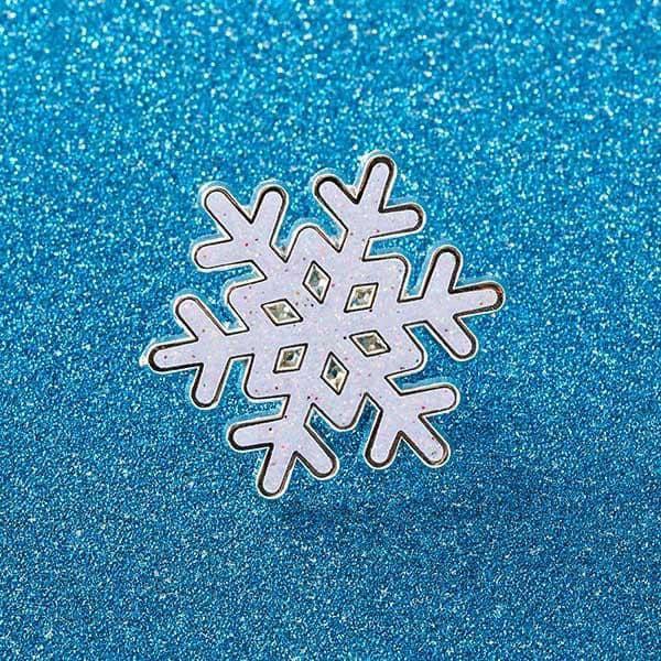 Snowflake Enamel Pin
