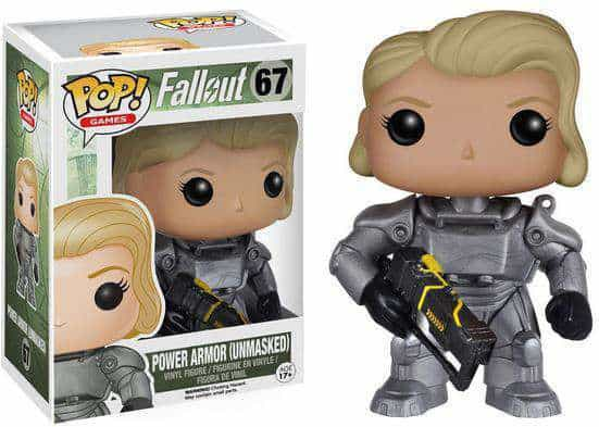 Funko POP! Games Fallout - Female Lone Wanderer Unmasked Power Armor Vinyl Figure 10cm limited