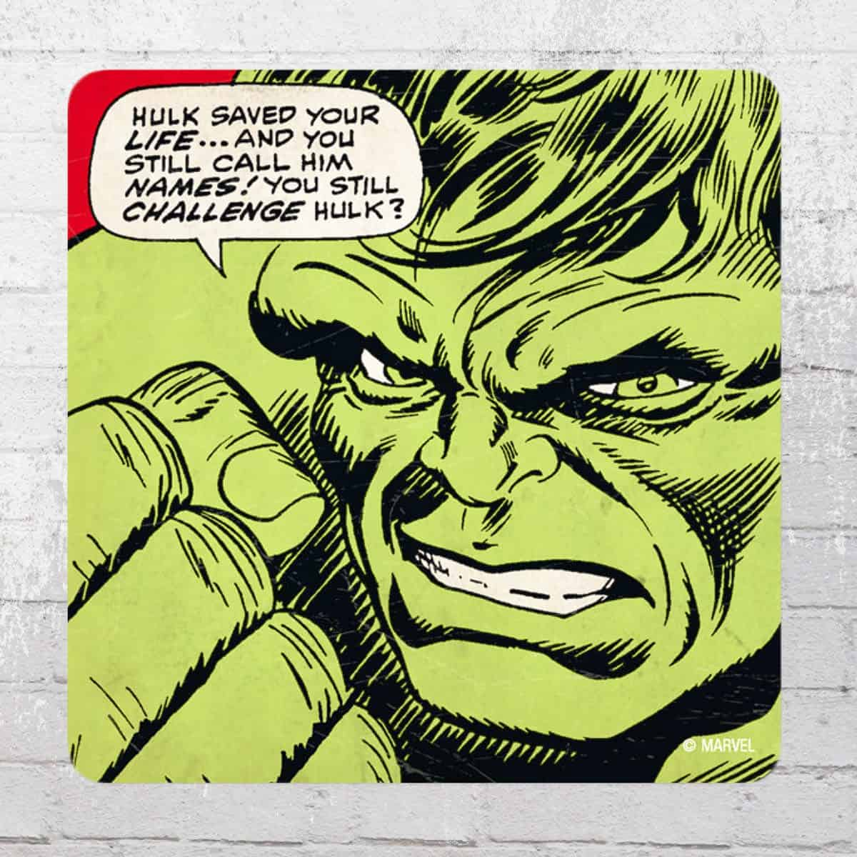 Marvel - Hulk - Saved your life Coaster