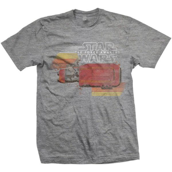 Star Wars Episode VII T-Shirt Rey Speeder Retro T-shirt