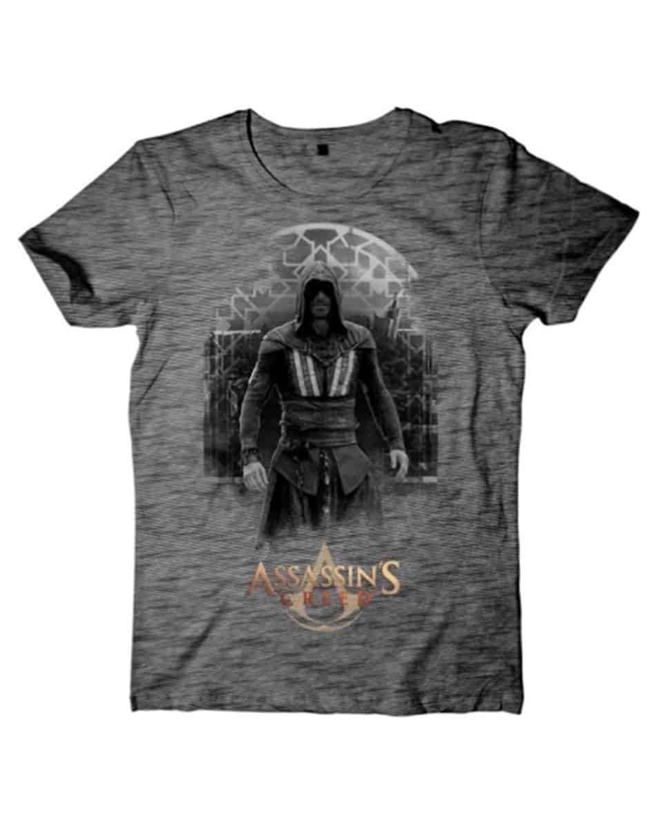 Assassin's Creed Movie - Aguilar on Grey Grindle T-shirt