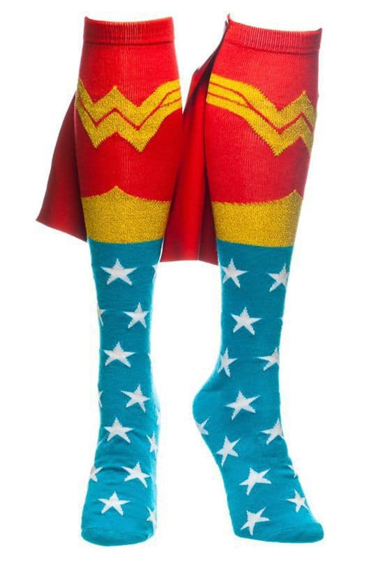 Wonder Woman Cape Socks