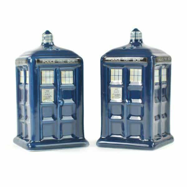 Doctor Who Salt and Pepper Pots Tardis