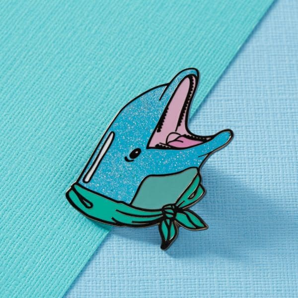 Punky Pins Glittery Dolphin Pin