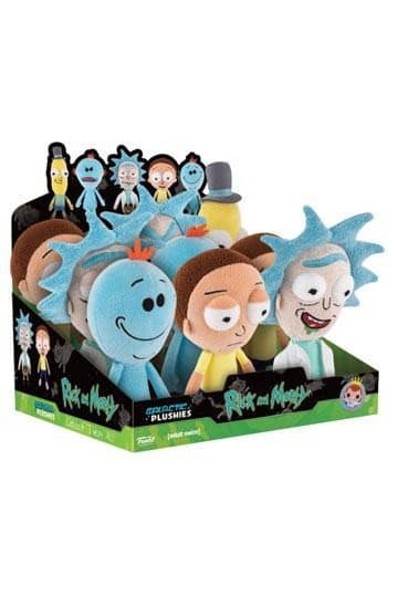 Funko Plushies Rick and Morty - Assortment Display of 9 18-20cm