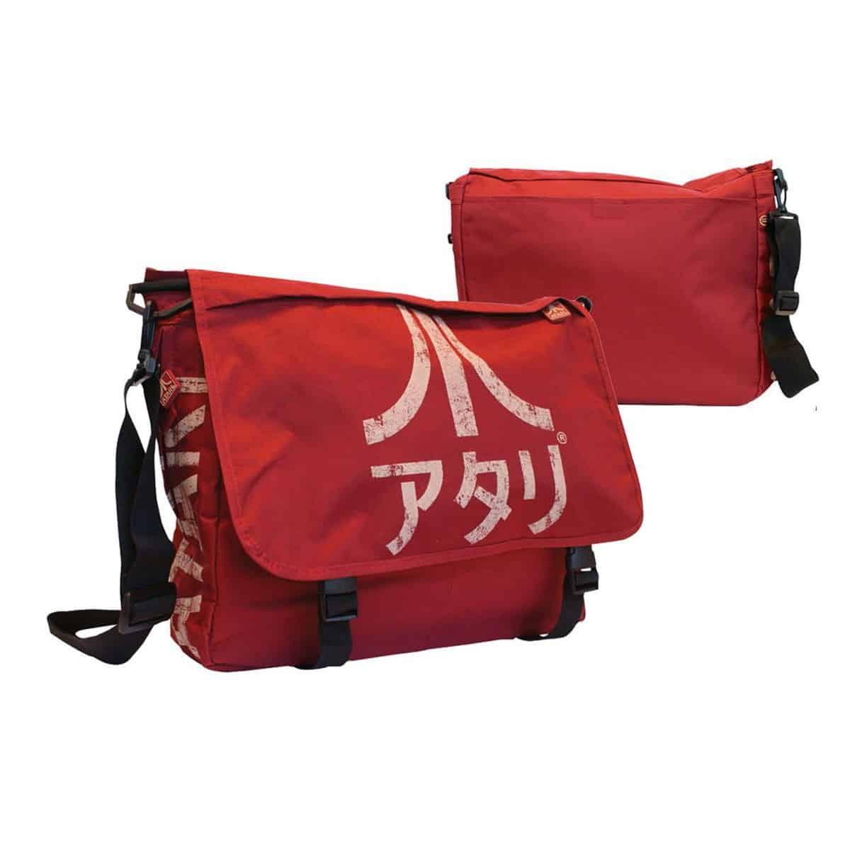 Atari - Dark Red Messenger Bag with Japanese Logo