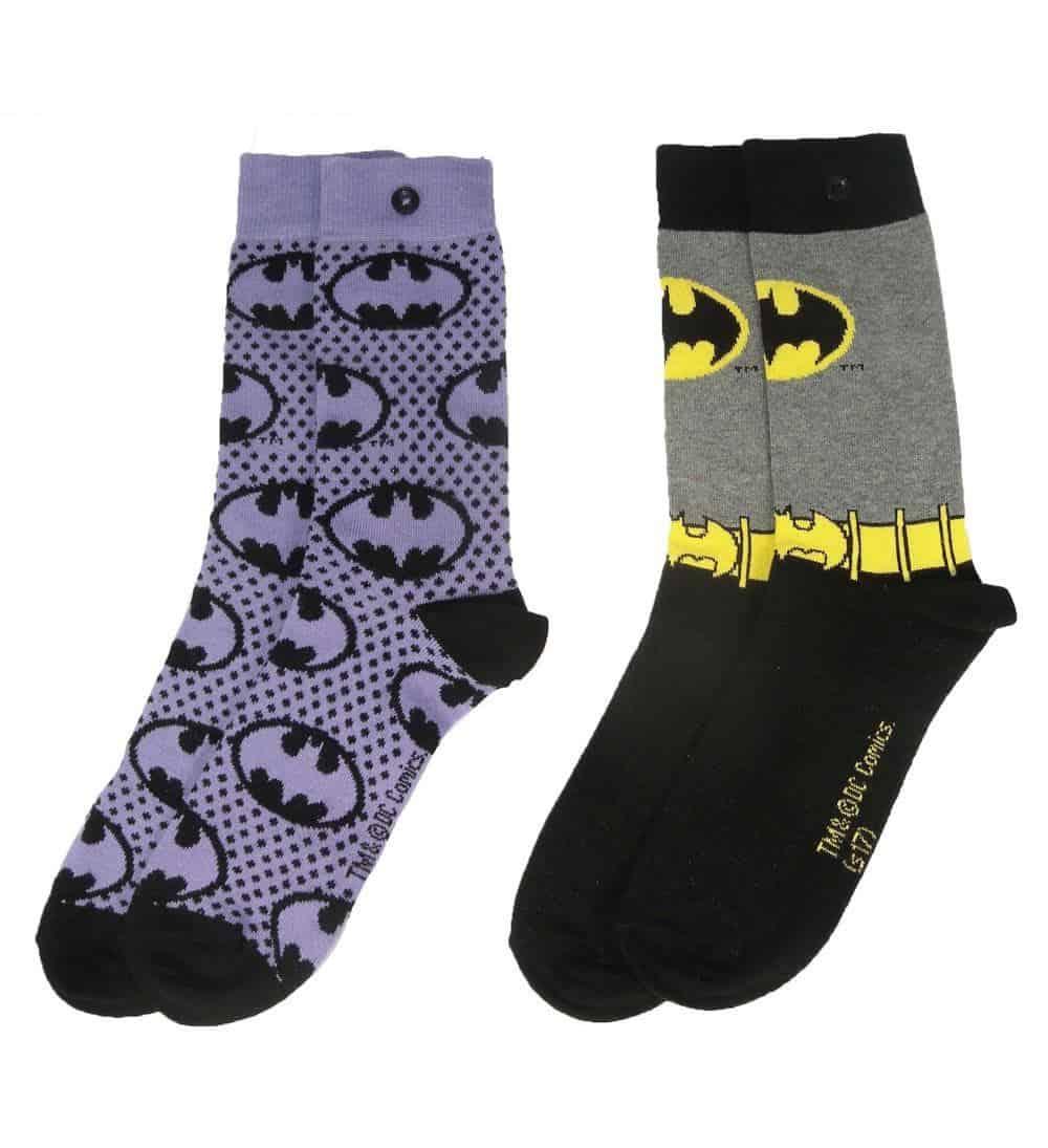 DC Comics Socks 2-Pack Batman Purple