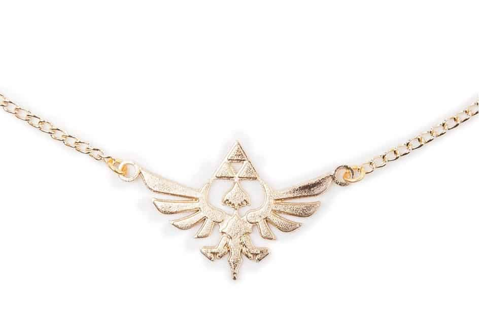 Zelda - Golden Necklace with Hyrule Charm