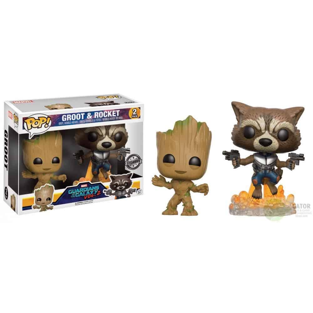 FUNKO Pop! Guardians of the Galaxy 2 Marvel Vinyl Figures 2-Pack Groot & Rocket 9 cm
