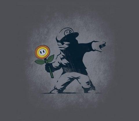 Banksy Flower T-shirt