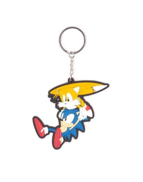 Sega – Sonic and Tails Rubber Keychain