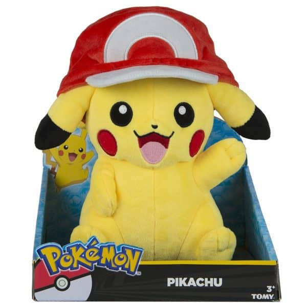 Pokémon Plush Figure Pikachu with Ash Cap 26 cm