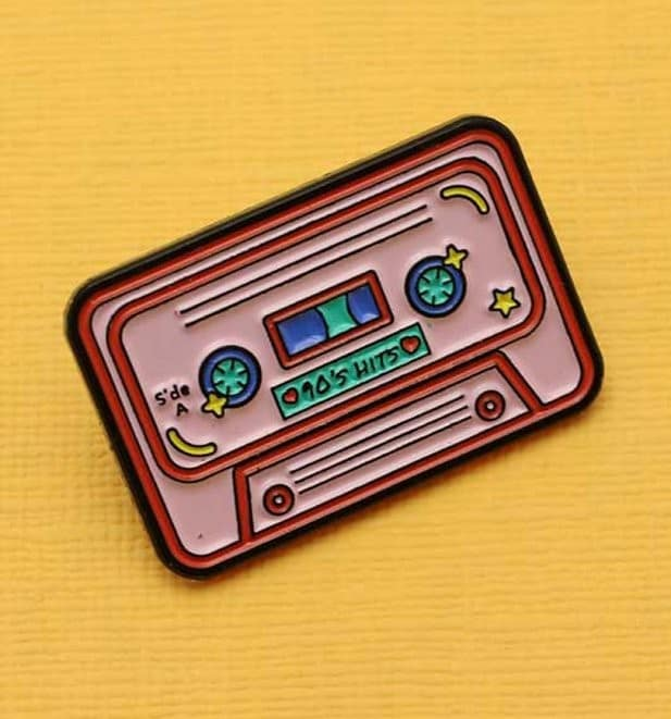 Punky Pins Mix Tape Pink Pin