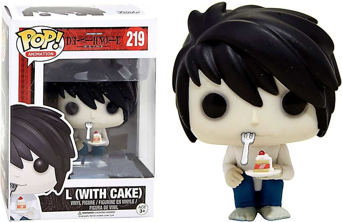 Funko POP! Animation Death Note - L with Cake Vinyl Figure 10cm limited