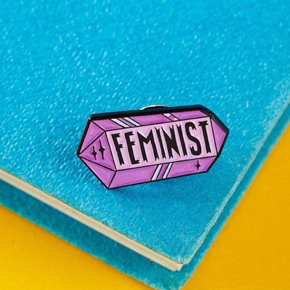 Punky Pins Feminist Crystal Pin