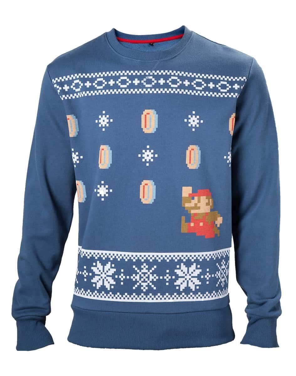 Nintendo - Mario Christmas Sweater blue
