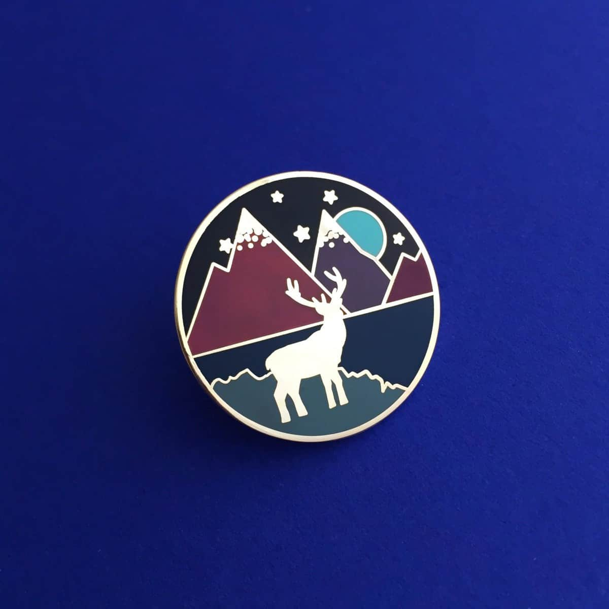 HOYFC Stag and Mountain Pin