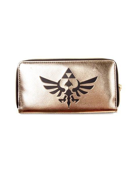 Zelda – Zip Around Wallet, Black/ Gold Triforce