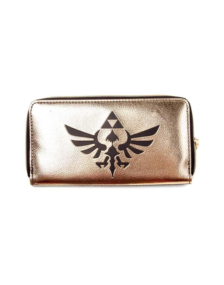 Zelda - Zip Around Wallet, Black/ Gold Triforce