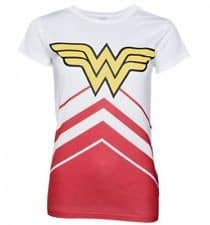 DC Comics Ladies T-Shirt Wonder Woman Cheerleader Logo