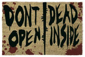 Walking Dead Doormat Don't Open Dead Inside 40 x 60 cm