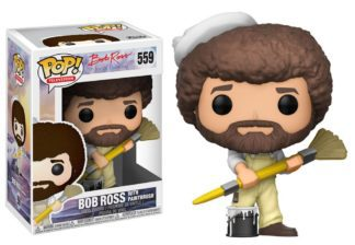 Funko POP! The Joy of Painting Television Vinyl Figure Bob Ross with Paintbrush 9 cm
