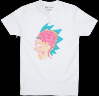 Lootwear Rick & Morty T-shirt White Inside Rick's Mind