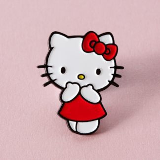 Punky Pins Red Dress Hello Kitty Enamel Pin