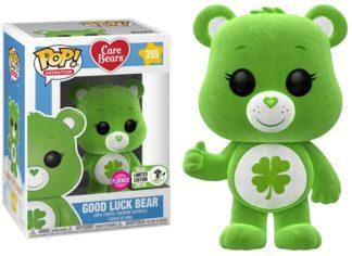 Funko POP! Care Bears – Good Luck Bear Flocked Vinyl Figure 10cm ECCC Exclusive