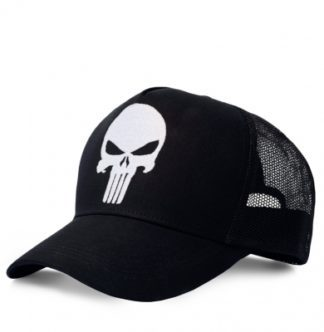 Punisher – Trucker Cap – Kids – embroidered – black