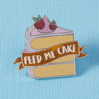 Feed Me Cake Enamel Pin