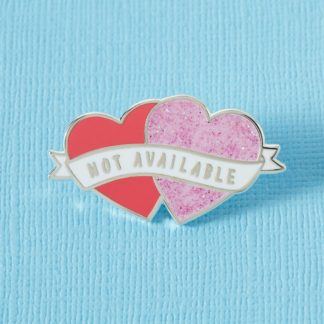Punky Pins Not Available Heart Shaped Enamel Pin Red & Pink