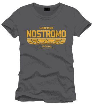 Alien T-Shirt Nostromo Logo Size XL